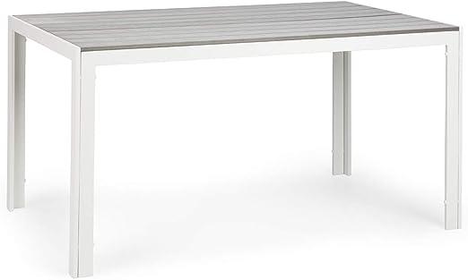 blumfeldt Bilbao White Edition - Mesa de jardín, 150 x 73 x 90 cm ...