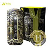 Bliiq Infinite X Outdoor Sports Bluetooth Speaker - Waterproof, Dustproof, Shockproof with Built-in Powerbank, LED light, Micro-SD card Slot - Camouflage Color