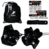 Kbands Training Dual 54 Inch Wind Resistance Speed Parachutes | 2 Durable Running Chutes To Increase Sprint Speed
