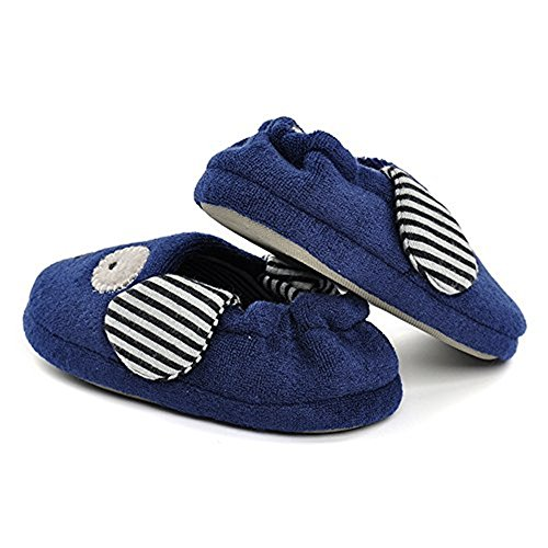 Pictures of Enteer Baby Boys' Doggy Slipper (7-8 Navy 3