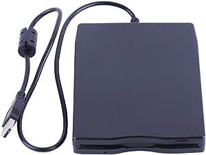 "3.5"" USB External Floppy Disk Drive Portable 1.44 MB FDD for PC Windows 2000/XP/Vista/7/8/10 Mac,No Extra Driver Required,Plug Play,Black"