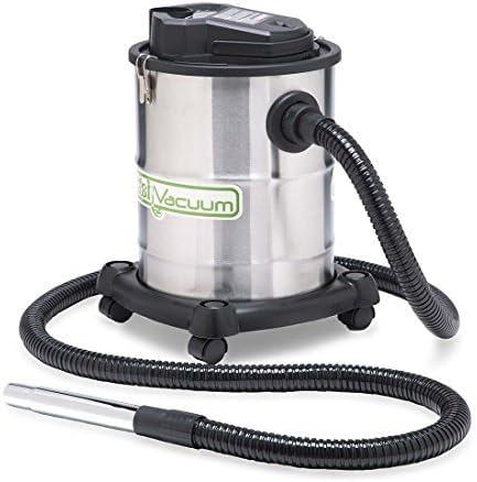 Plow & Hearth Heavy-Duty, Heat-Resistant Fireplace Warm Ash Vacuum