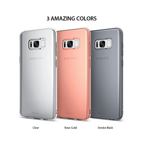 Ringke AIR for Samsung Galaxy S8 2017 7 Lightweight protection thin as air yet strong to protect from daily use scratches. Secure your phone with protection without any unnecessary hassle or bulk. Supports Qi Wireless Charging without the hassle of having to remove the case for Samsung Galaxy S8. Flexible & strong TPU offers durability and defense for minimal daily bumps and scratches. Dual active coverage includes inner corner cushions to protect the phone Enhance and reveal the natural shape with Ringke's highest engineering technology for precise tailored cutouts is designed for impeccable perfect fit.