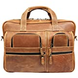 Canyon Outback Casa Grande Canyon 15.6-Inch Leather Computer Bag, Distressed Tan, One Size