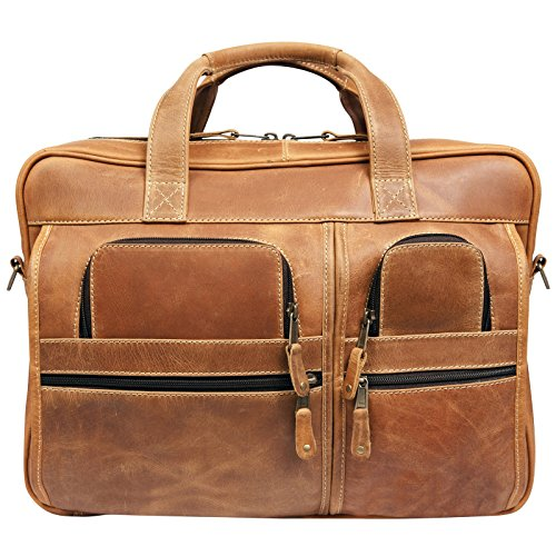 Canyon Outback Casa Grande Canyon 15.6-Inch Leather Computer Bag, Distressed Tan, One Size by Canyon Outback
