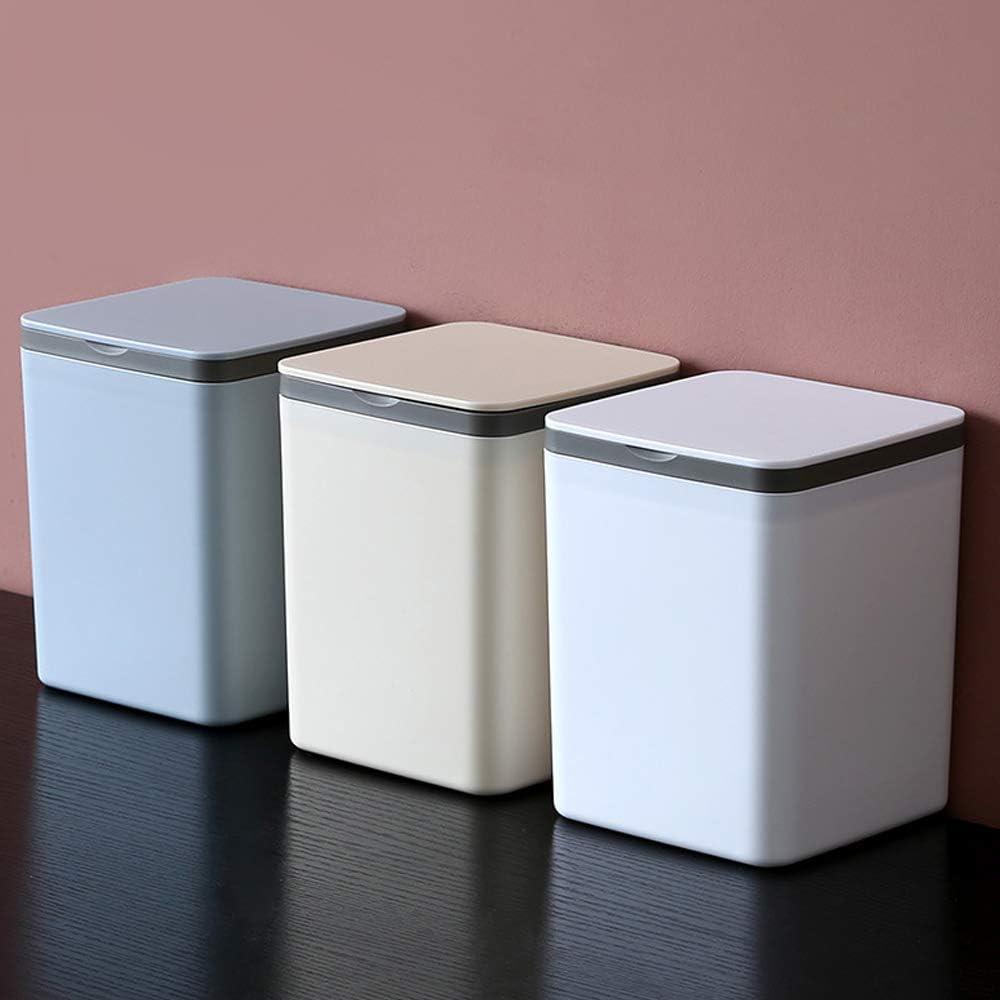 la cocina u oficina Bocotoer Creative Papelera de escritorio con tapa abatible para el hogar
