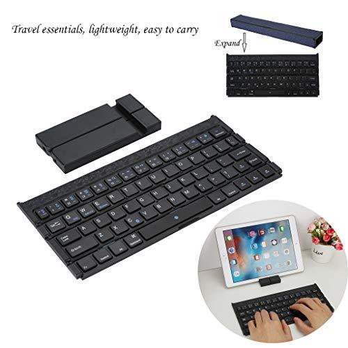 Bluetooth Keyboard, for iPad Pro 11''12.9'' 2018 Release Slim Smart Bluetooth Mini Foldable Keyboard from Mikkar