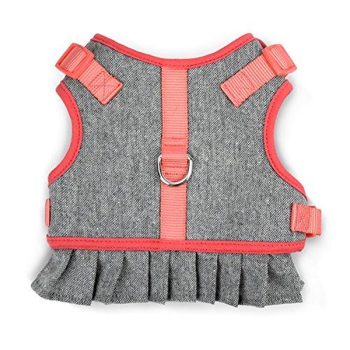 MARTHA STEWART Tweed Adjustable Fit Comfort Dress Harness for Dogs, Size 16 (Martha Stewart Dog Clothes)