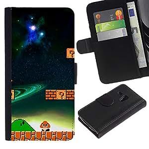 Mario Mushroom - la tarjeta de Crédito Slots PU Funda de cuero Monedero caso cubierta de piel ParaSamsung Galaxy S3 MINI i8190 (NOT S3)