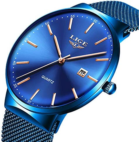 LIGE Waterproof Stainless Wristwatch Bussiness product image
