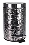 Garbage Disposal Kingston Extremely Durable Stainless Steel Hammered Waste Bin Small Enough To Keep Out of Sight