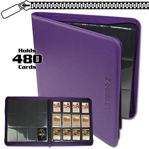 BCW 1-ZF12LX-Pur 12 Pocket Z-Folio LX, Purple