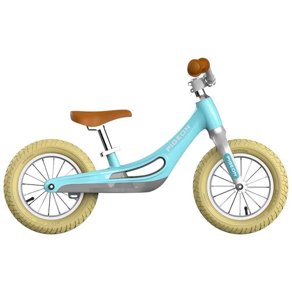 バランスバイク、2、3、4、5、6歳の男の子用女の子、乗馬用玩具、空気入りタイヤ&スーパーソフトサドル&アジャスタブルシート、ランニングウォーキングトレーニング自転車 ZHAOFENGMING (Color : Green, Size : As shown) B07T2RYVQK Green As shown