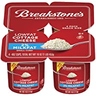 BREAKSTONE COTTAGE CHEESE 2% SMALL CURD 4 CT SNACK SIZE PACK OF 3