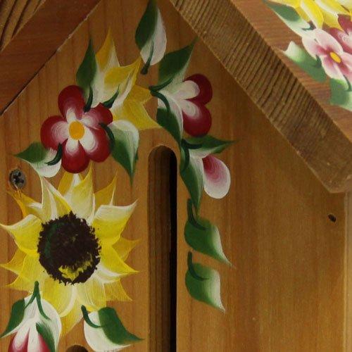 나비 하우스 : 손으로 그린 ??해바라기가있는 자연/Butterfly House: Natural with Hand Painted Sunflowers