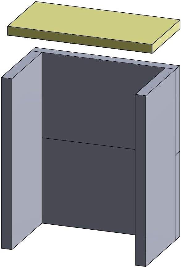 410 x 210 x 25 mm, chamota Placa calefactora Flamado