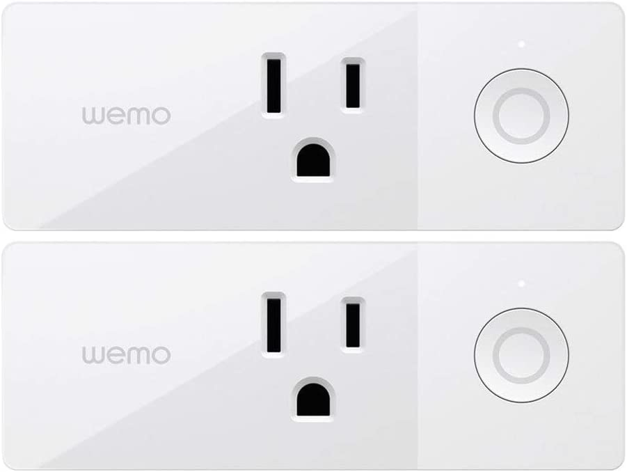 Wemo Mini Smart Plug, Wi-Fi Enabled, Compatible with Alexa and Google Home (F7C063-RM2) (2 pack) (Renewed)