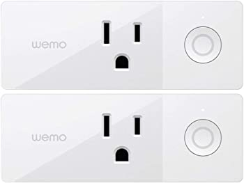2-Count Wemo Mini Wi-Fi Enabled Smart Outlet Plug (F7C063)