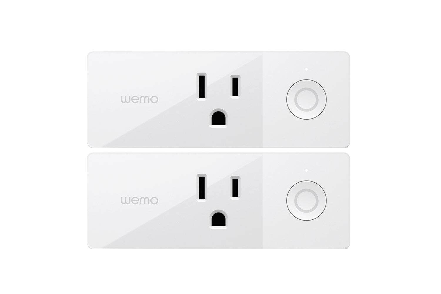 Wemo Mini Smart Plug, Wi-Fi Enabled, Compatible with Alexa (F7C063-RM2) (2 pack) (Renewed)