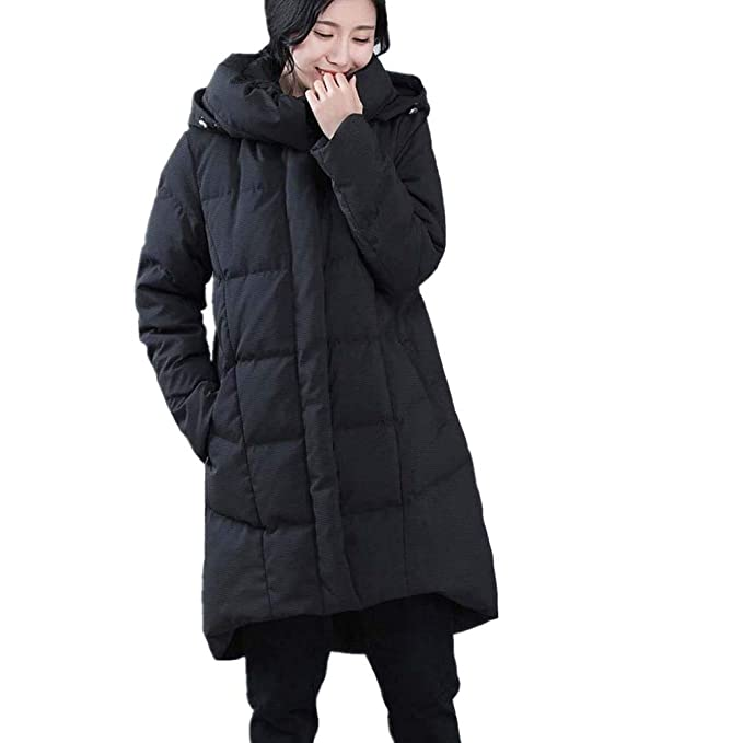 RSTJ-Sjc Chaqueta de pluma para mujer Salir hacia fuera Sección larga Abrigo cálido a prueba de viento, abrigo delgado, relleno de pato blanco: Amazon.es: ...