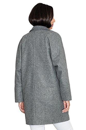 FIGL Kimonomantel mit Stehkragen Grau adcD7aA