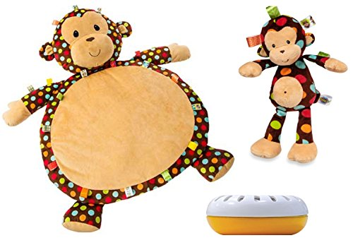 Taggies Dazzle Dots Monkey Baby Mat with Monkey Soft Toy