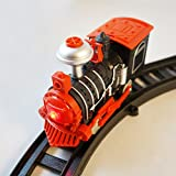 Haktoys Battery Operated Express Classic Train Playset with Lights and Sound