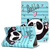 Universal Case for 9-10.1 inch Tablet, Coopts Smart Wallet Case for Amazon Kindle Fire HD 10 2017 2015,Samsung Galaxy Tab 4 9.7 Tab E 9.6 A 9.7,Tab S,Google Nexus 9,iPad Air 2 1, Hello Panda