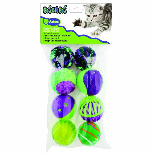 UPC 780824116773, OurPets Rolling in the Fun 8 piece Multi-Pack Cat Toy