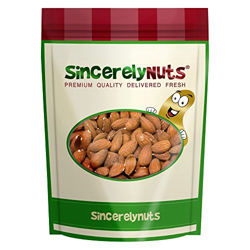 Sincerely Nuts Roasted Whole Unsalted Almonds No Shell - Five Lb. Bag - Incredibly Tasty - Sealed for Freshness - Healthy Nutrients - Kosher (Roasted Whole Almonds)