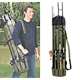 Fishing Rod Reel Case Bag Organizer Travel Carry Case Carrier Holder Pole Tools Storage Bags