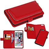 iPhone 6s Case, iPhone 6 Case, DRUnKQUEEn Premium Slim Wallet Zipper Clutch Leather Credit Card Holder Feature Purse Flip Type Removable Case - Detachable Magnetic Back Cover for iPhone6s / iPhone6