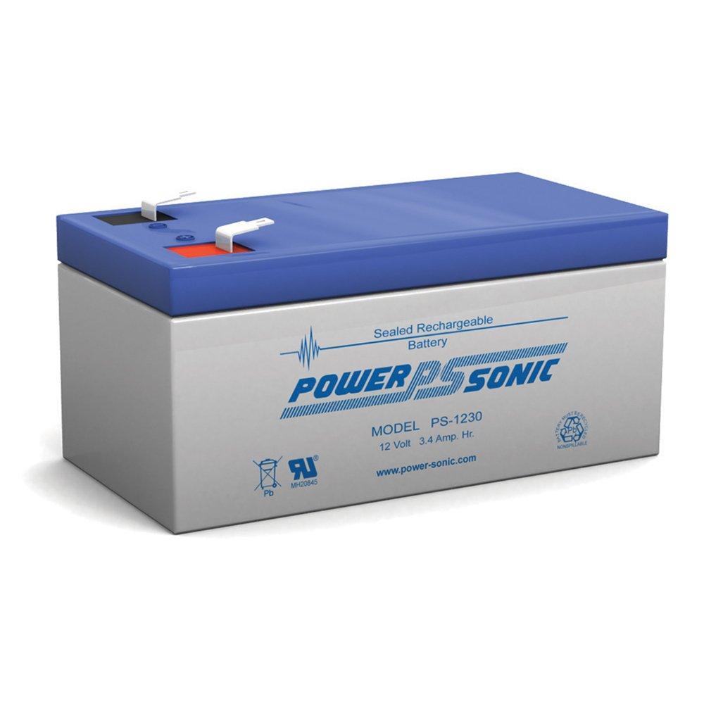 Power-Sonic PS-1230 Rechargeable sealed Lead Acid SLA Battery 12v 3.4ah