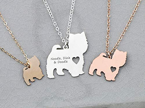 Westie Dog Necklace - IBD - Highland Terrier - Personalize with Name or Date - Choose Chain Length - Pendant Size Options - 935 Sterling Silver 14K Rose Gold Filled Charm - Ships in 1 Business Day