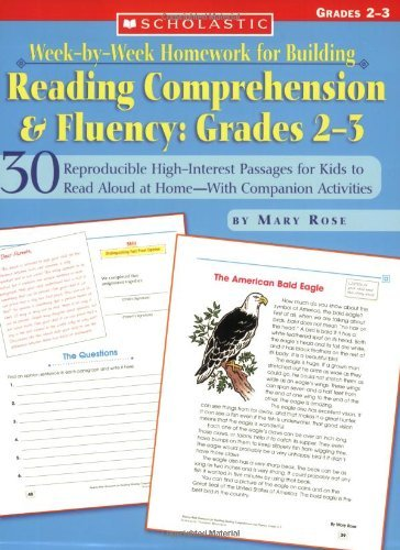 Download By Mary Rose - Week-by-Week Homework for Building Reading Comprehension and Fluency: 30 Reproducible High-Interest Reading for Kids to Read Aloud at Home-With Companion Activities: Grades 2-3 (7.2.2004) pdf epub