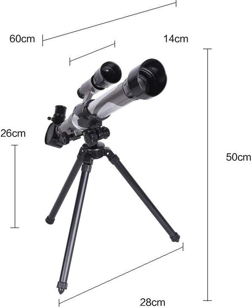 Telescope 20-40X Astronomical Telescope Monocular Bird Watching Monocular for Children Beginners Telescope Color : Black, Size : 28x50//26cm//11.02