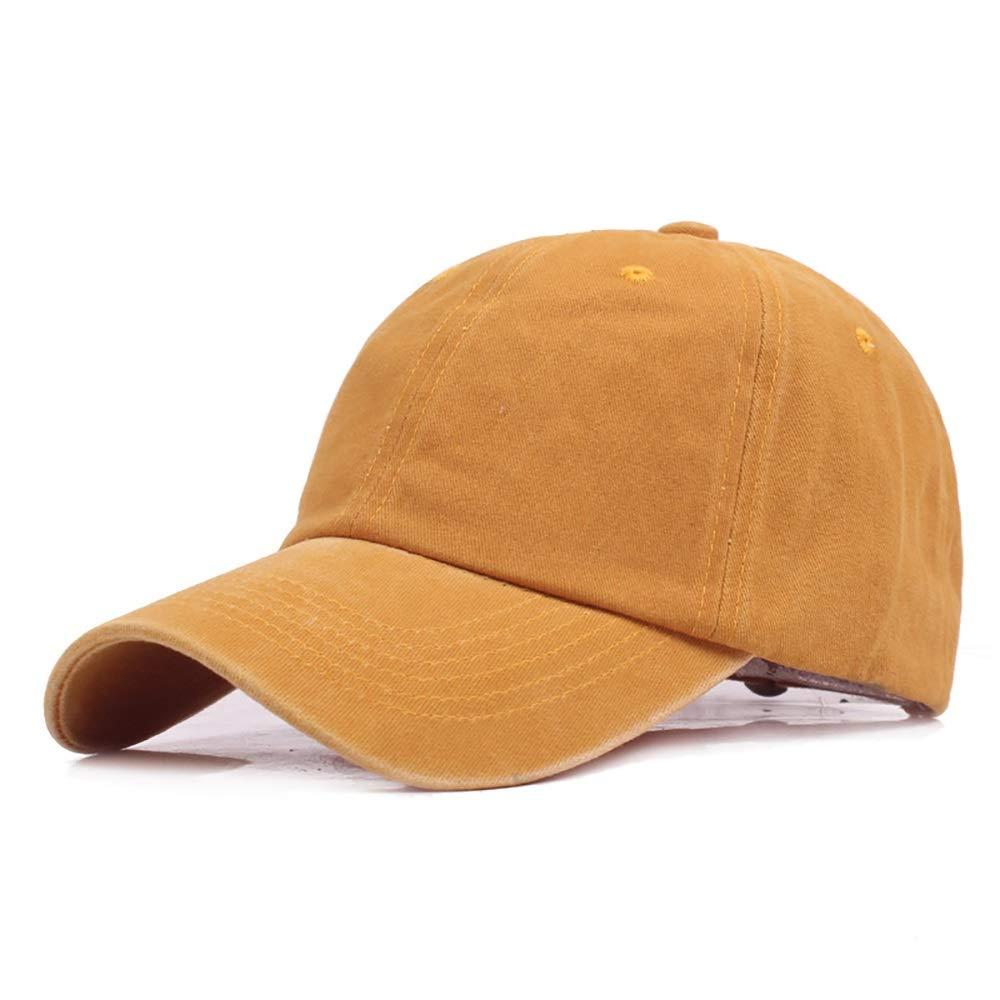 S*womens hat Sombra Gorra de b/éisbol Ajustable de algod/ón desgastada Unisex Fashian Unisex Transpirable Pico levantado Gorra de protecci/ón Solar 54-60cm Elegante