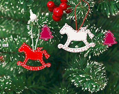 Huangliao 100pcs Wooden Christmas Ornaments Unfinished Paintable Blank Natural Wooden Christmas Tree Hanging Ornaments For Kids Diy Art Crafts