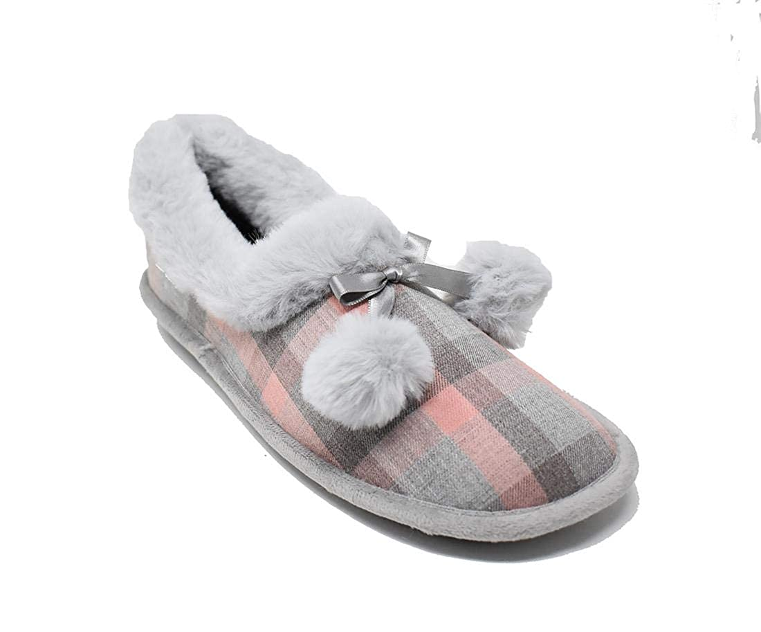 Zapatilla de casa Cerrada con Pompones - Biorelax 4505: Amazon.es: Zapatos y complementos