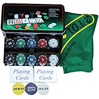 House of Quirk Poker Set Casino Game - 200 Poker Chips