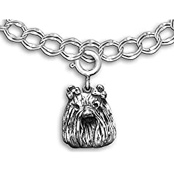 Sterling Silver Maltese Charm for Charm Bracelet by the Magic Zoo
