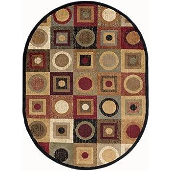 Amazon Com Peyton Contemporary Geometric Multi Color Oval