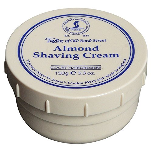 Taylor of Old Bond Street Almond Shaving Cream 150g - Pack of 6 by Taylor of Old Bond Street