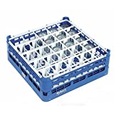 Vollrath Royal Blue Plastic 36 Compartment Dishwasher Glass Rack With 5 11/16'' Maximum Height - 19 3/4''L x 19 3/4''W x 7''H