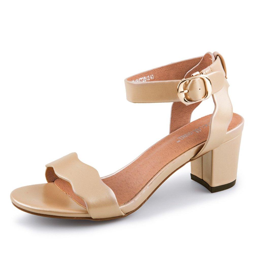 Sommer,Ein Wort Mit,Chunky Heel Sandalen Dame,High Heel Heel Heel Sandalen cc6475