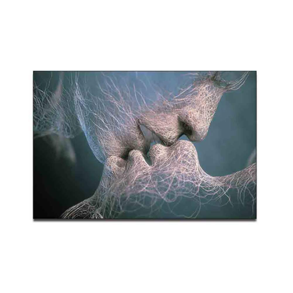 ,40X60 Sin Marco SJSF L Arte Inspirador Ad/án Y Eva Cuadros En Lienzo Wall Art Abstract Picture Artwork para La Decoraci/ón del Hogar