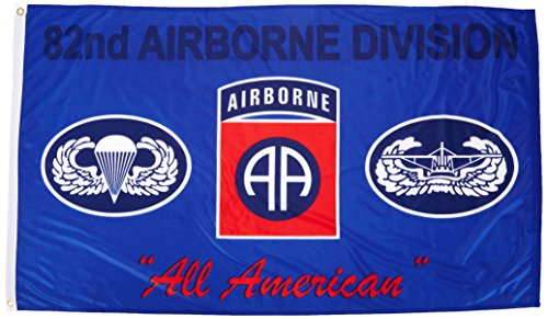 US Flag Store 82nd Airborne Blue Flag 3ft x 5ft Superknit Po