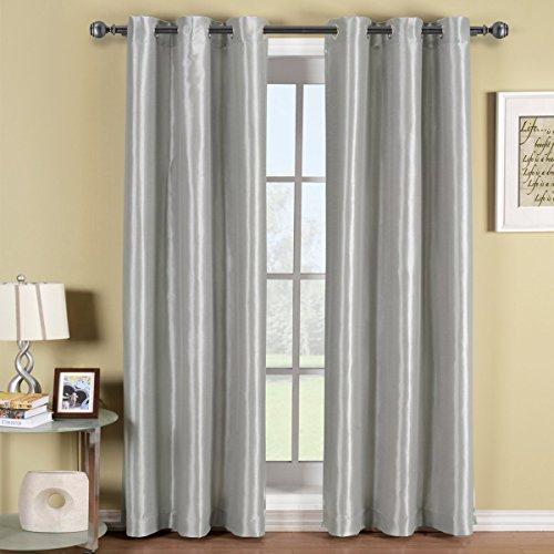 Royal Hotel Soho Silver Grommet Blackout Window Curtain Pane