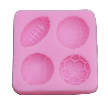 DGDJ - Molde de silicona para decoración de tartas, diseño de pelota de fútbol: Amazon.es: Hogar