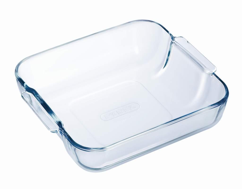 Pyrex Borosilicate Glass Square Roaster, 21x21cm KitchenMarket 1040741